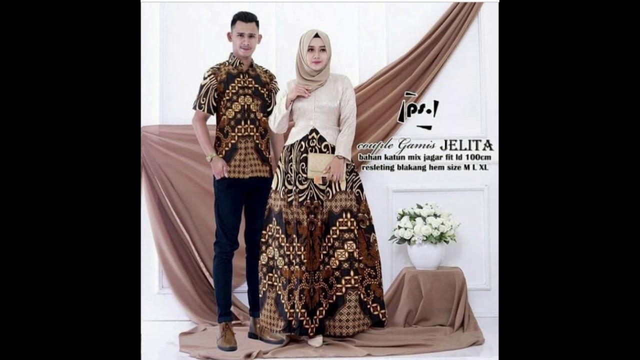 Inspirasi model baju gamis kebaya brokat kombinasi batik modern