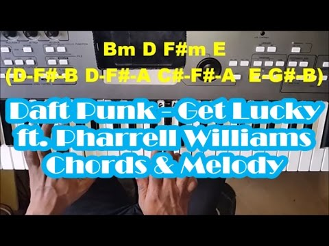 Daft Punk Get Lucky Easy Piano Tutorial With Chords Ft Pharrell