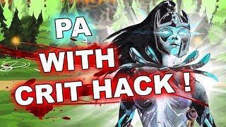 Dota 2 Cheater - Phantom Assassin with CRIT HACK !