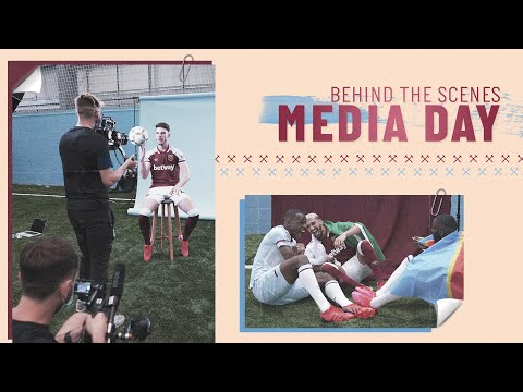BEHIND THE SCENES |  WEST HAM UNITED MEDIA DAY!
