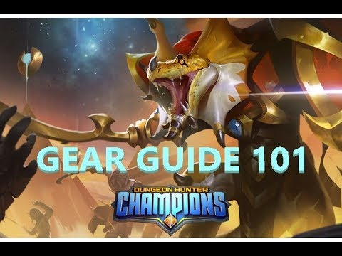 BARCODE - DUNGEON HUNTER CHAMPIONS - GEAR GUIDE 101: EARLY, MID, END