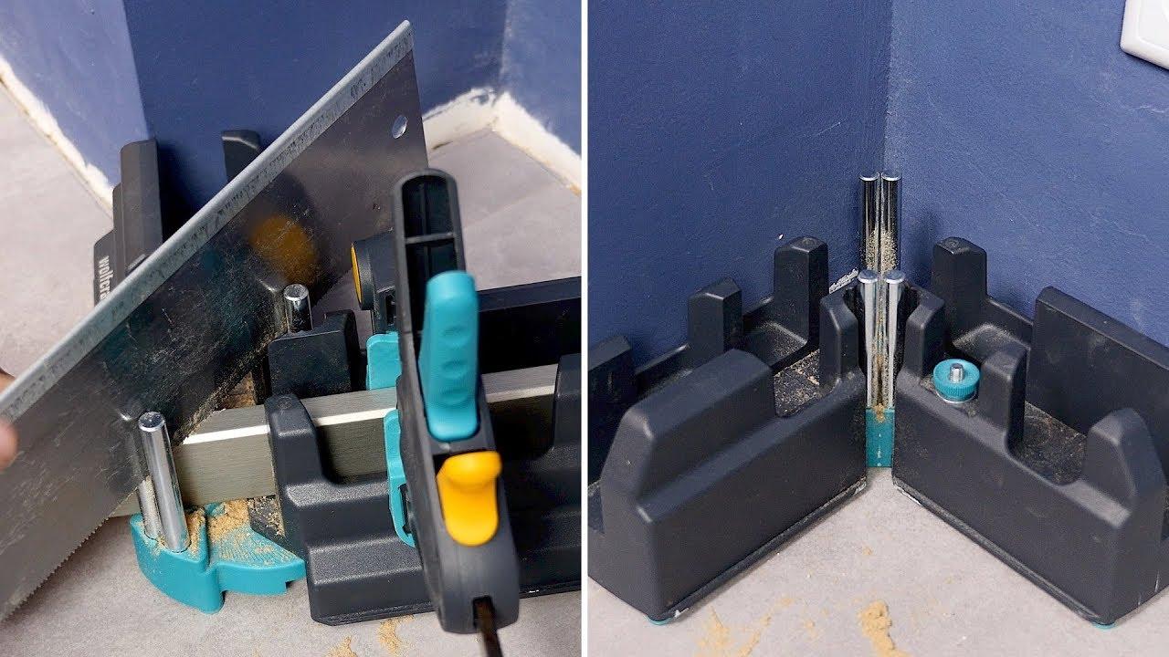 einfacher geht s nicht fu leisten auf gehrung schneiden wolfcraft schmiege schneidlade 2. Black Bedroom Furniture Sets. Home Design Ideas