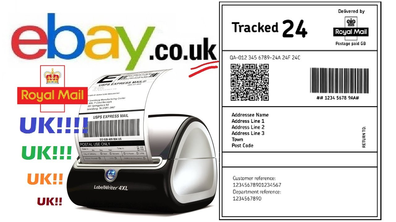 eBay UK Shipping Postal Label Printer (The Trick Avoid The Included  Software!) Dymo LabelWriter 4XL