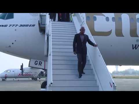 President Solih arrives back in the Maldives on conclusion of an official visit to the UAE