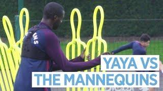 YAYA VS THE MANNEQUINS | Man City Training