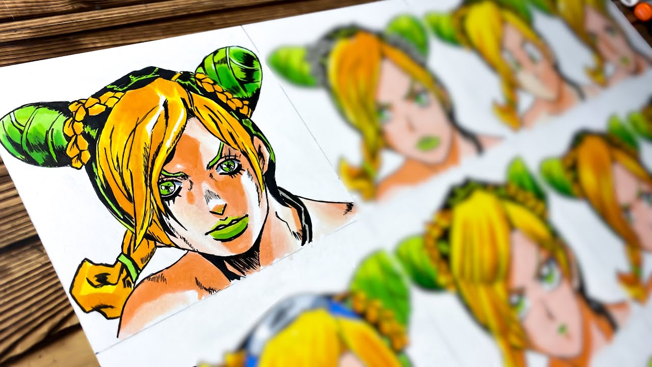 Drawing JOLYNE CUJOH in 12 Different Anime Styles - JoJo's Bizarre Adventure