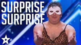 The Man of Mystery: WOWS judges in a DRESS!! | Got Talent Global
