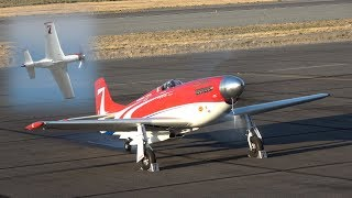 Unlimited Air Racer 'Strega', test flight and qualification. Reno 2017