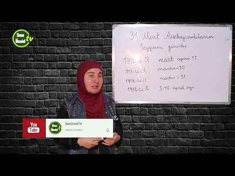 31 mart soyqırımı Tarix dərsi - #3 -cü #dərs