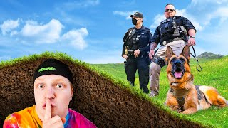 Hiding UNDERGROUND From POLICE! HIDE & SEEK Challenge