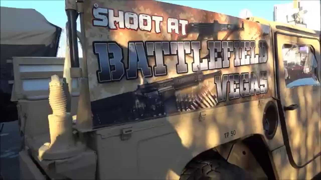 Battlefield Vegas Full Auto Gun Range In Las Vegas Youtube