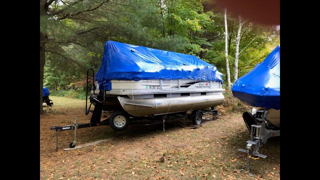 pontoon boat PVC framework for winter cover