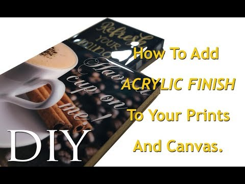 HOW TO ADD ACRYLIC FINISH TO YOUR PRINTS AND CANVAS USING EPOXY GLAZE FOR COUNTERTOPS   MOOREGIRL