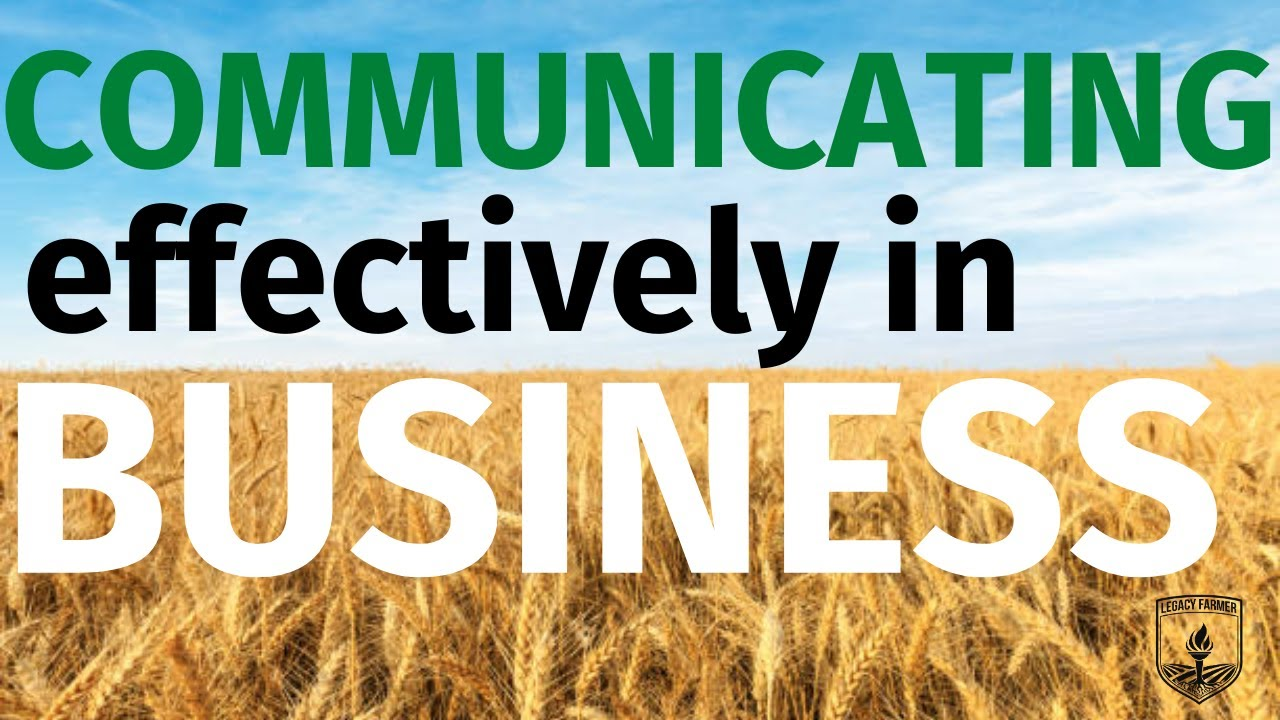 Communicating Effectively in Your Business