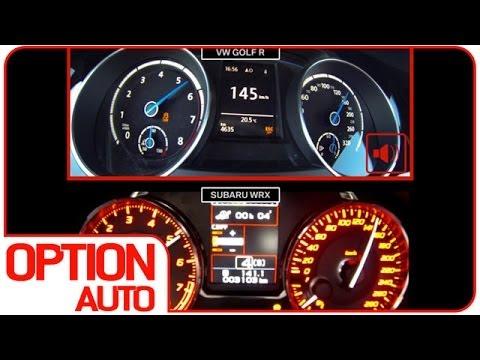 0-100 km/h : WRX STI vs Golf R (Option Auto)