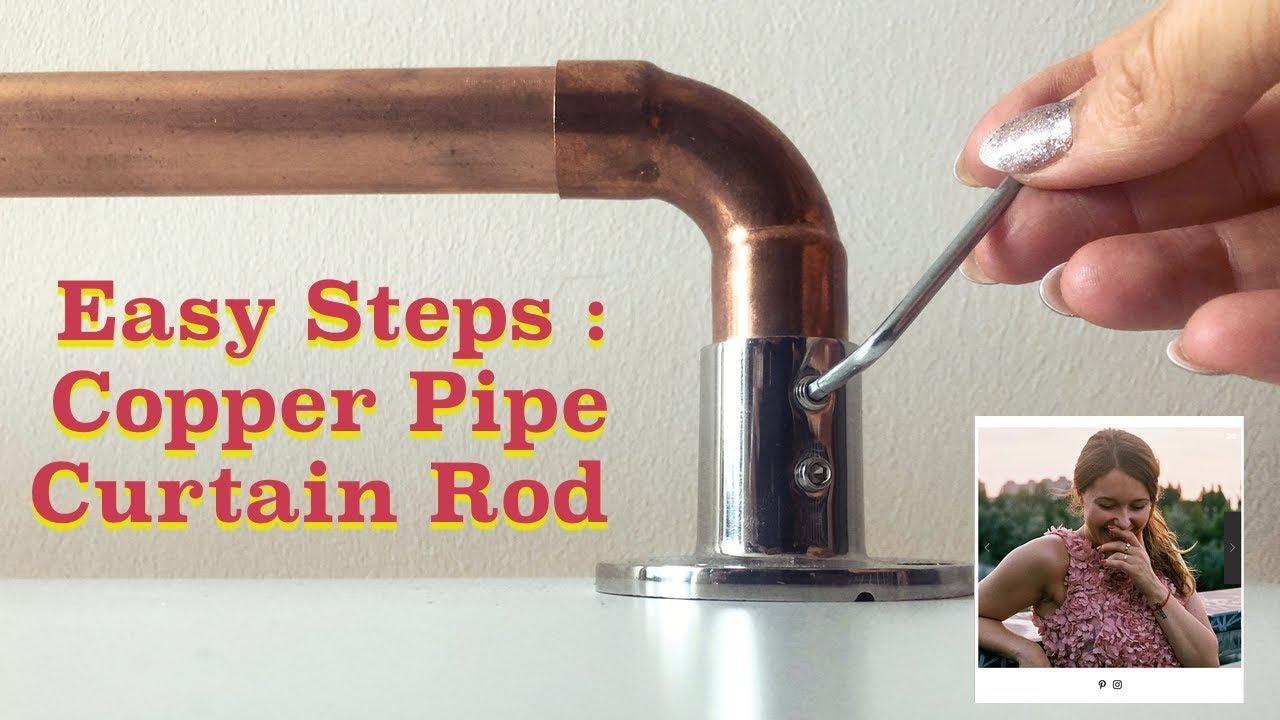diy designer copper pipe curtain rod