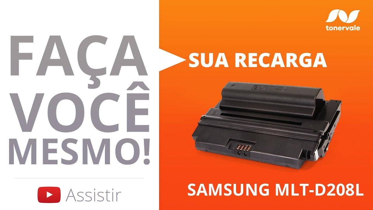 Recarga Toner Samsung MLT-D208 - SCX-5835 SCX-5635 SCX-5835FN ML-3475 - Vídeo Aula Toner Vale