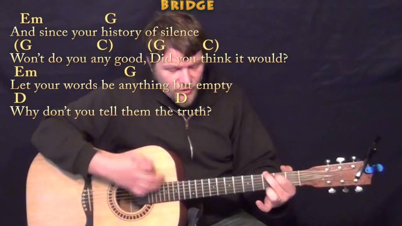 Brave Sara Bareilles Strum Guitar Cover Lesson in G with Chords/Lyrics