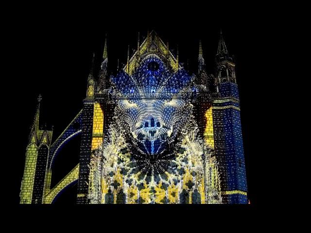 Constellations de Metz : ALTER LUX ANIMAE 2018, Mapping Cathédrale Saint Etienne Metz