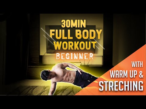 [Level 1] 30 Minute Fat Burning Workout For Beginners with Warm Up & Stretchings