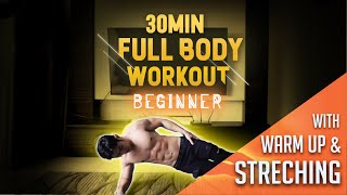 (Level 1) - 30 Minute Fat Burning Workout For Beginners (with Warm Up & Stretchings)