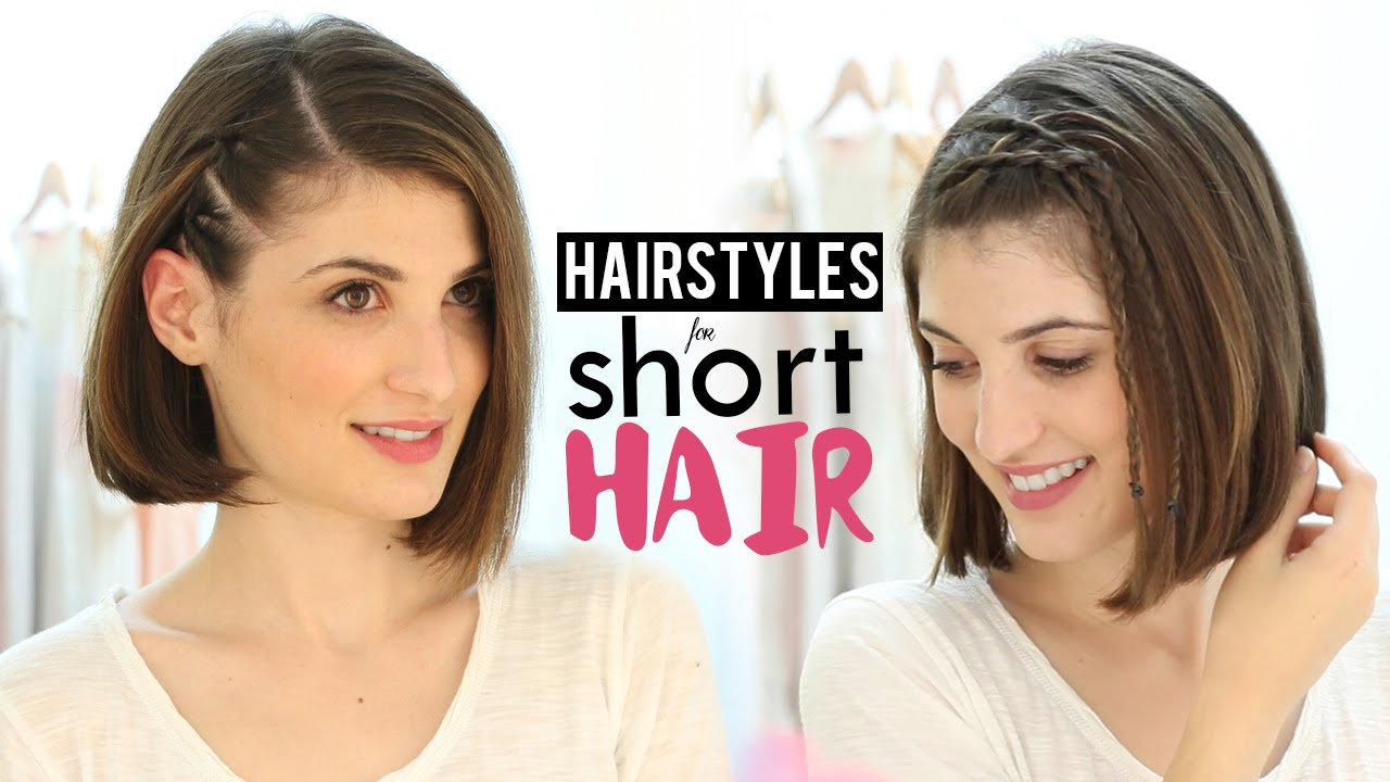 hairstyles for short hair tutorial - youtube
