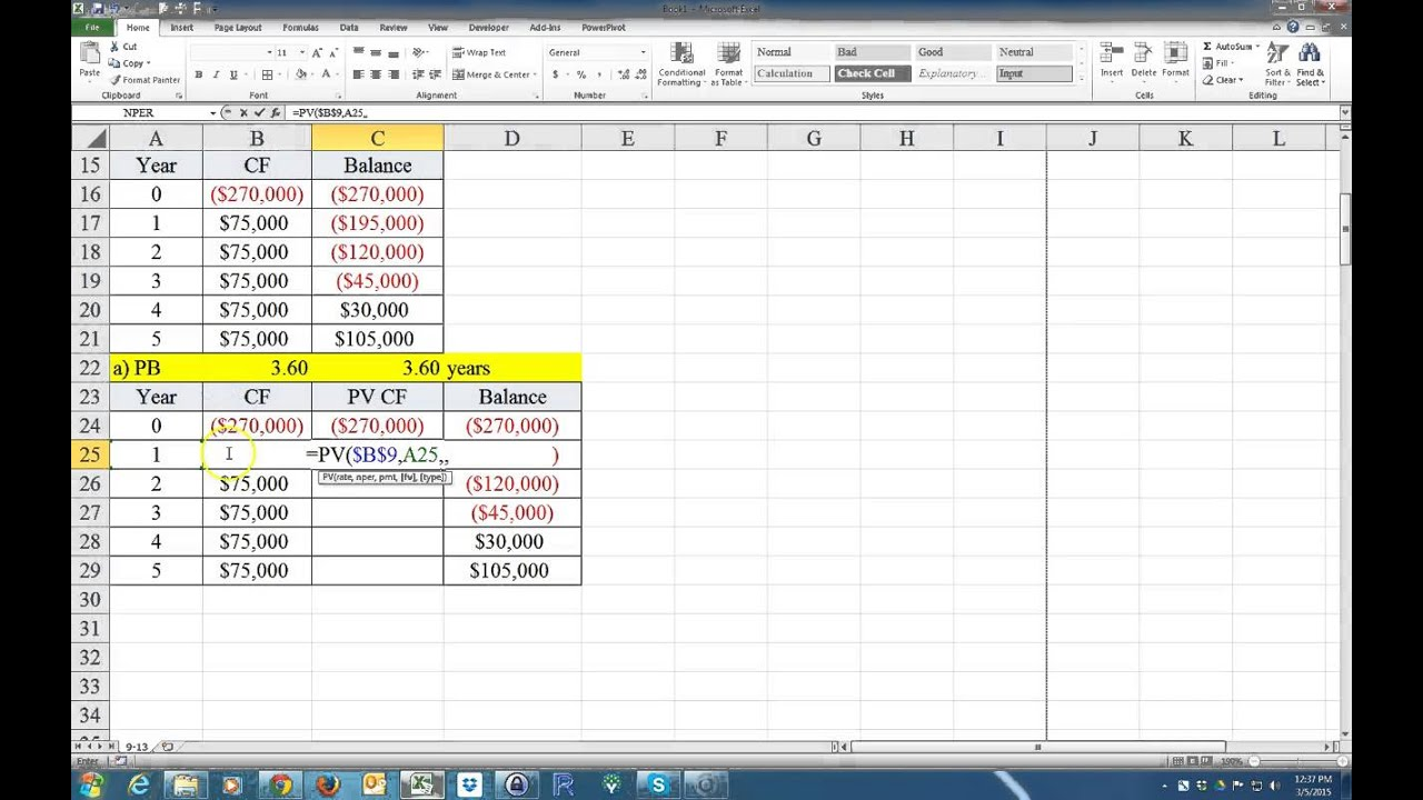 How to calculate the payback period and the discounted payback how to calculate the payback period and the discounted payback period on excel alramifo Choice Image