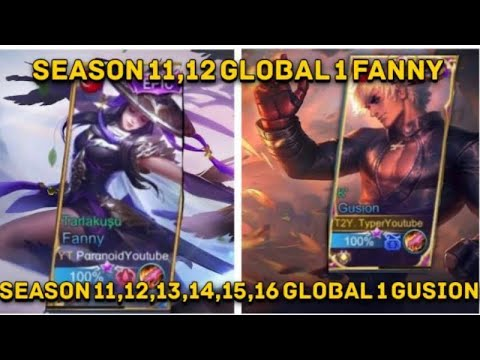 TyperYoutube Ft Paranoid | King Is Back | Global 1 Gusion | Global 1 Fanny | Old | Mobile Legends