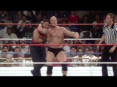 """Stone Cold"" Steve Austin debuts the Stunner: WWE Superstars, June 17, 1996"