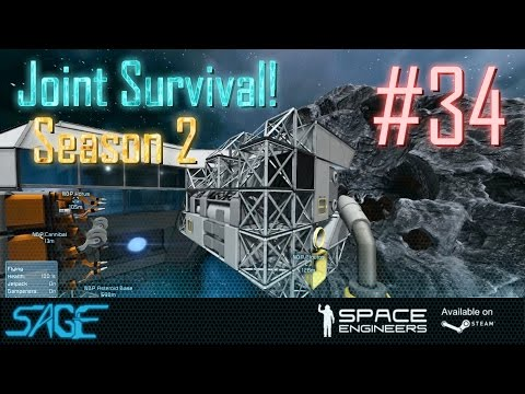 Space Engineers, Joint Survival, S2 #34 (Refinery Retrofit)