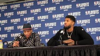 Thunder vs Blazers Game 2 - Russell Westbrook and Paul George