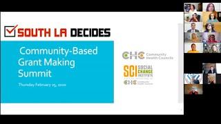 English - South LA Decides - Community-Based Grant Making Summit
