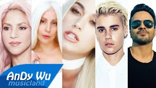 DESPACITO / CHANTAJE / BON APPÉTIT  - Justin Bieber, Katy Perry, Lady Gaga, Shakira, Luis Fonsi