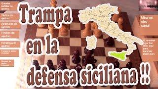 Trampa en la defensa siciliana sistema clasico ajedrez chess