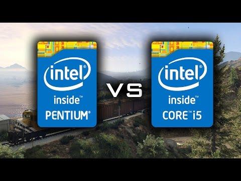 GTA 5 - Pentium G3258 (4.3 GHz) vs i5 4690K (4.3 GHz)