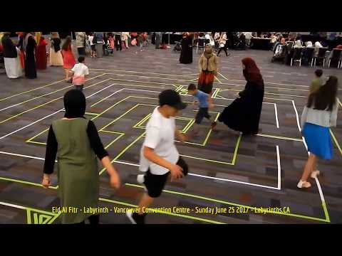 HiMY SYeD -- Eid Al Fitr Labyrinth, Vancouver Convention Centre, Sunday June 25 2017 - Labyrinths.CA