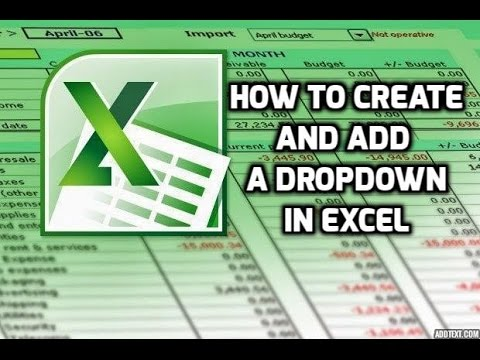how to add drop down totals in excel