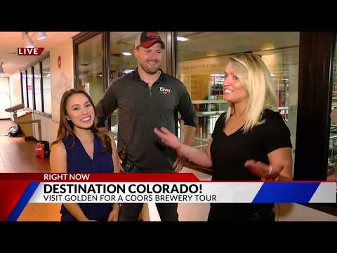 Destination Colorado  Coors Brewery Tour LIVE on FOX21 Morning News