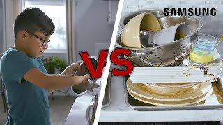 Kids Vs. Machines: Dishwasher // Presented By Samsung Appliances