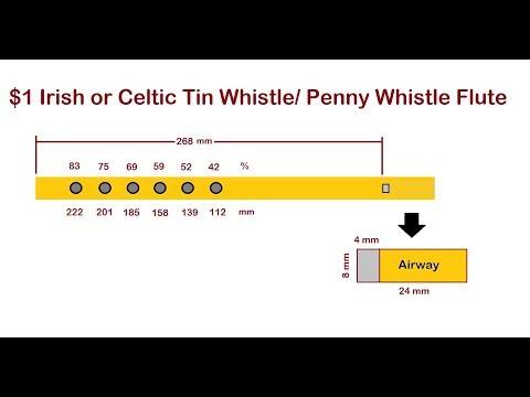Make an Irish Tin Whistle/ Penny Whistle Flute for $1.