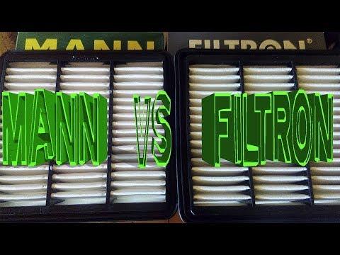 Фильтр воздушный Манн и Фильтрон для Киа, сравнение + отзыв