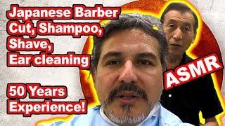 classic 床屋さん japanese barbershop   cut shave asmr   gopro  take 2