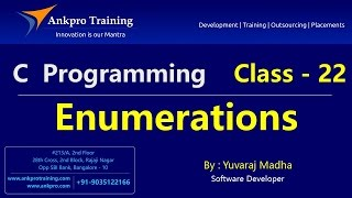 C language - Class 22 : Enums(Enumerations) in C with example
