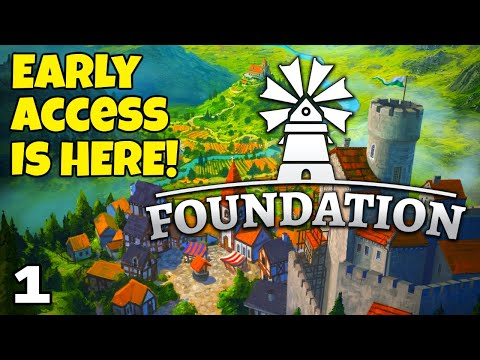 Foundation City Builder (Early Access) - Part 1 - The new Valley map!