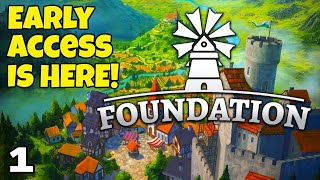 Foundation City Builder (early Access)   Part 1   The New Valley Map!
