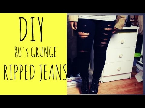 how to make ripped jeans youtube