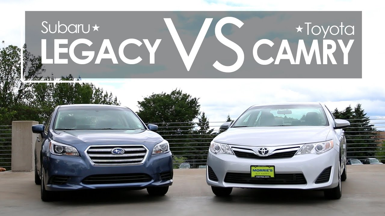 subaru legacy vs toyota camry model comparison morrie 39 s brooklyn park subaru youtube. Black Bedroom Furniture Sets. Home Design Ideas