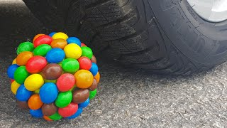 Crushing Crunchy & Soft Things by Car! EXPERIMENT CAR vs M&M BALL