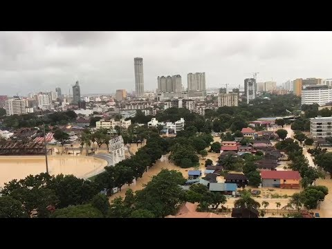 Penang paralysed by floods