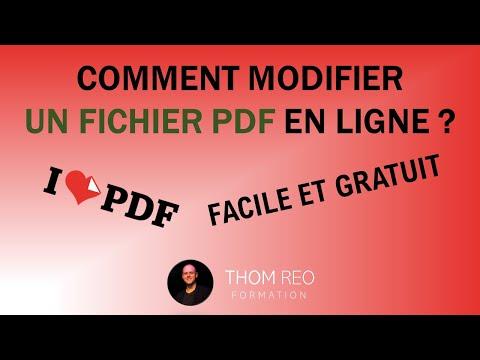 Modifier / Éditer un fichier PDF - Formation IlovePDF